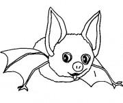 Coloriage et dessins gratuit Chauve-souris drôle à imprimer