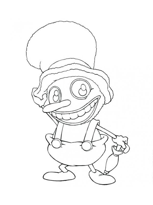 Coloriage et dessins gratuits Clawn amusant stylisé à imprimer