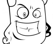 Coloriage et dessins gratuit Diable drôle à découper à imprimer