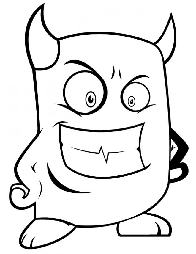 Coloriage et dessins gratuits Diable drôle à découper à imprimer