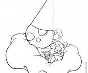 Coloriage Luciole dormante pour enfant
