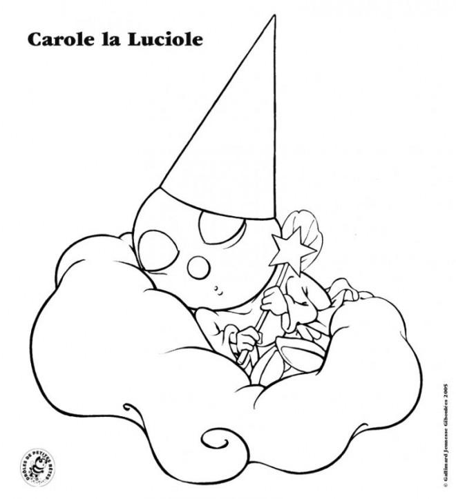 Coloriage et dessins gratuits Luciole dormante pour enfant à imprimer