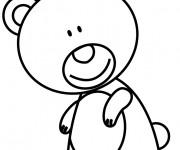Coloriage Ourson mignon avec le sourire sur le visage