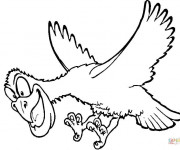 Coloriage Un Aigle en vol rigolo