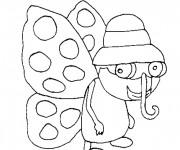 Coloriage et dessins gratuit Une Papillon drôle à imprimer
