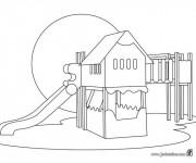 Coloriage et dessins gratuit École et espace de jouer à imprimer