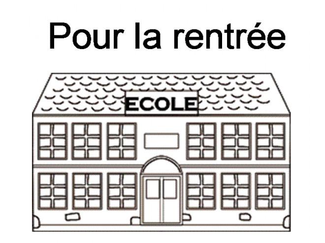 Coloriage et dessins gratuits École Pour La Rentrée à imprimer