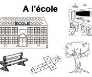 Coloriage École Primaire