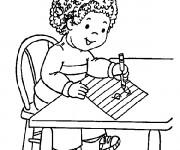 Coloriage et dessins gratuit élève et L'Alphabet Maternelle à imprimer