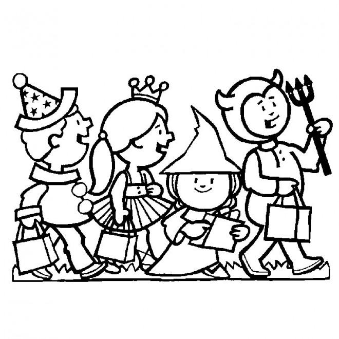 Coloriage et dessins gratuits Halloween Maternelle pour enfant à imprimer