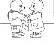 Coloriage et dessins gratuit Les Petits Ours à l'École Maternelle à imprimer