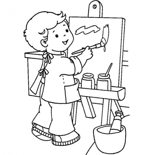 Coloriage et dessins gratuits Séance de dessin Maternelle à imprimer