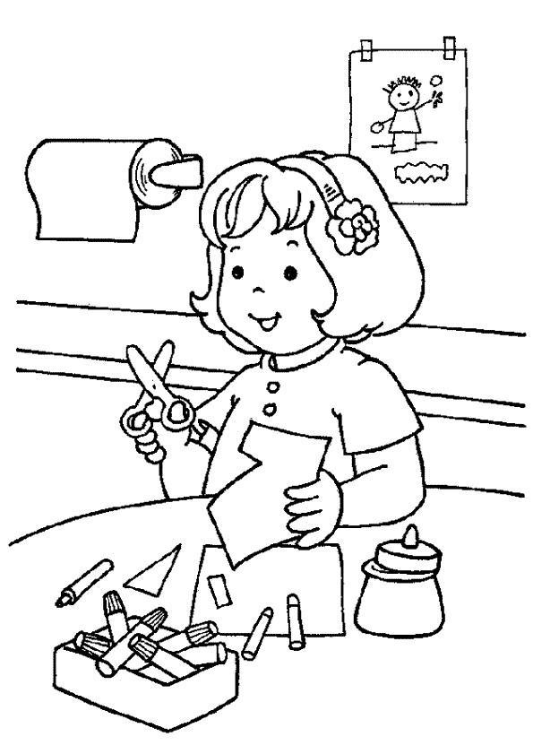 Coloriage et dessins gratuits Un élève en classe Maternelle à imprimer