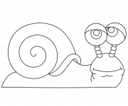 Coloriage Un Escargot maternelle