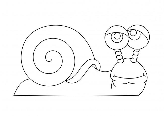 Coloriage et dessins gratuits Un Escargot maternelle à imprimer