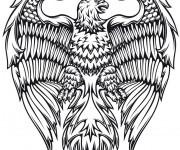 Coloriage Aigle Fantastique en noir et blanc