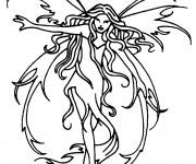 Coloriage et dessins gratuit Elfe Fantastique à imprimer