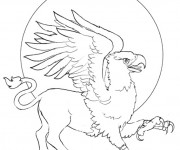 Coloriage et dessins gratuit Fantastique Aigle à imprimer