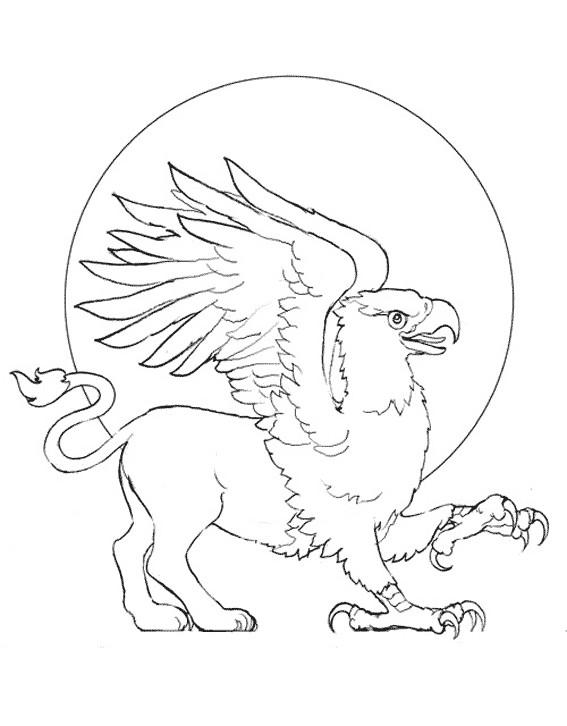 Coloriage et dessins gratuits Fantastique Aigle à imprimer