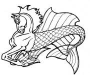 Coloriage et dessins gratuit Fantastique Cheval irréel à imprimer