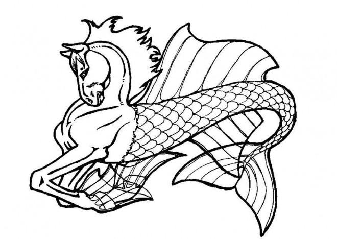 Coloriage et dessins gratuits Fantastique Cheval irréel à imprimer