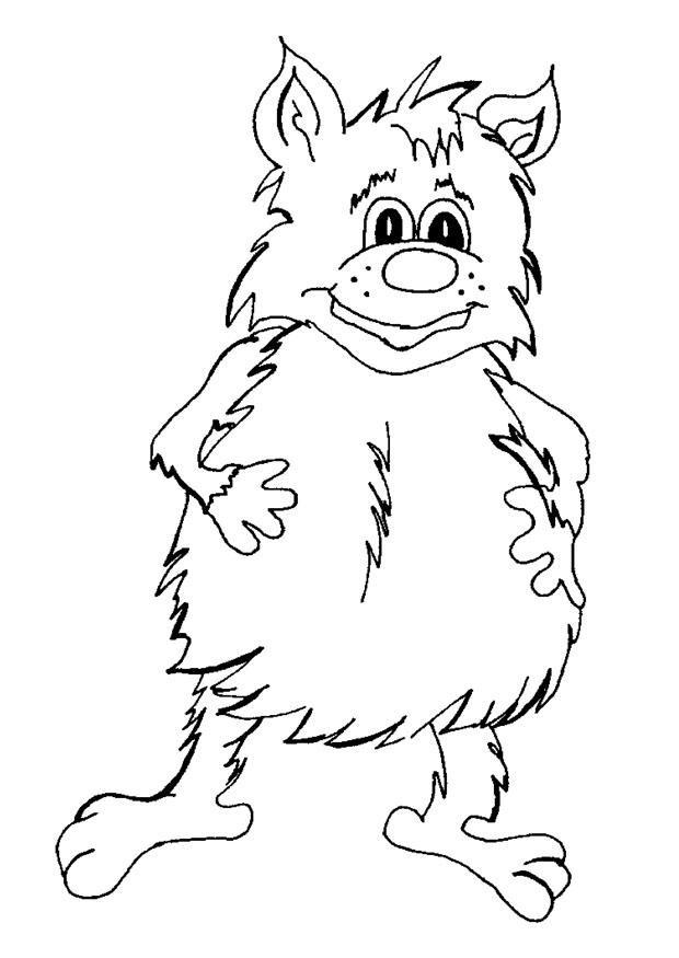 Coloriage et dessins gratuits Fantastique Créature souriant à imprimer