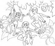 Coloriage et dessins gratuit Fantastique Créatures à quatre mains à imprimer