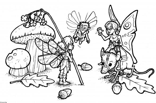 Coloriage et dessins gratuits Fantastique Créatures en couleur à imprimer