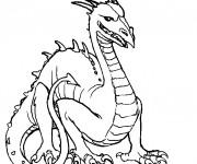 Coloriage Fantastique Dragon vectoriel