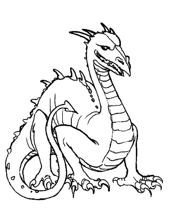 Coloriage et dessins gratuits Fantastique Dragon vectoriel à imprimer