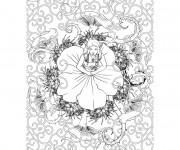 Coloriage et dessins gratuit Fantastique Femme à imprimer