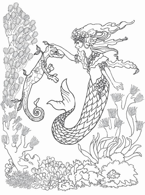 Coloriage et dessins gratuits Fantastique Fond Marin à imprimer