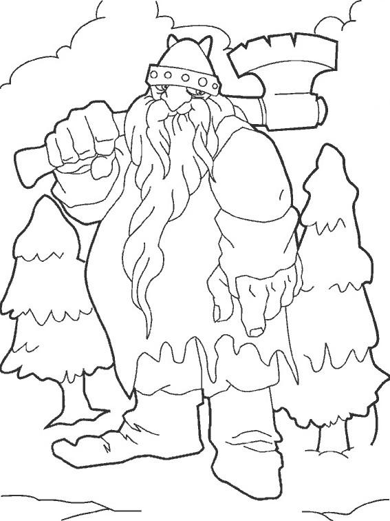 Coloriage et dessins gratuits Fantastique Géant à imprimer