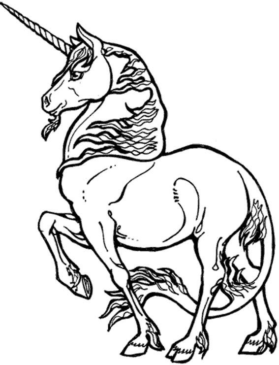Coloriage et dessins gratuits Fantastique Licorne magique à imprimer