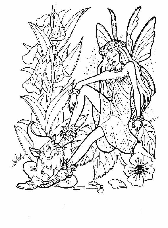 Coloriage et dessins gratuits Fantastique Lutins de La Forêt à imprimer