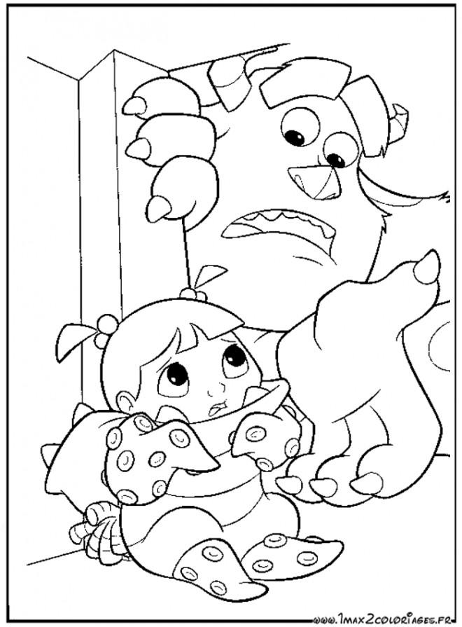 Coloriage et dessins gratuits Fantastique Monstres Cartoon à imprimer
