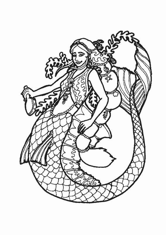 Coloriage et dessins gratuits Fantastique Siréne de Mer à imprimer