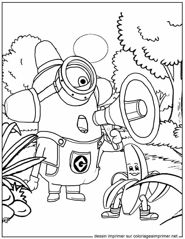 Coloriage et dessins gratuits Film Les Minions à décorer à imprimer