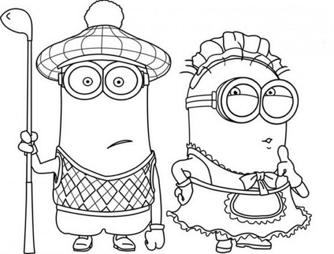 Coloriage et dessins gratuits Film Les Minions drôle à imprimer