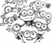 Coloriage et dessins gratuit Film Les Minions pour enfants à imprimer