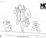 Coloriage et dessins gratuit Film Moi Moche et Méchant en couleur à imprimer