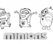 Coloriage Les Minions Cartoon