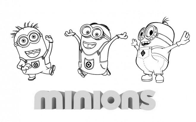 Coloriage et dessins gratuits Les Minions Cartoon à imprimer