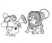 Coloriage et dessins gratuit Les Minions maternelle à imprimer