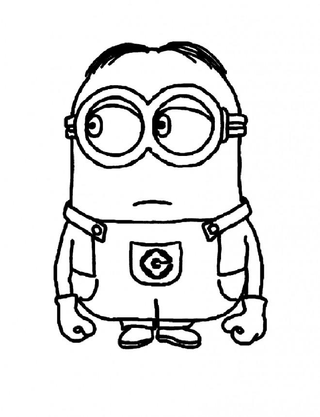 Coloriage et dessins gratuits Les Minions Stuart facile à imprimer