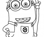 Coloriage Minion Dave en couleur