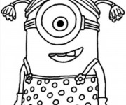 Coloriage Minion facile