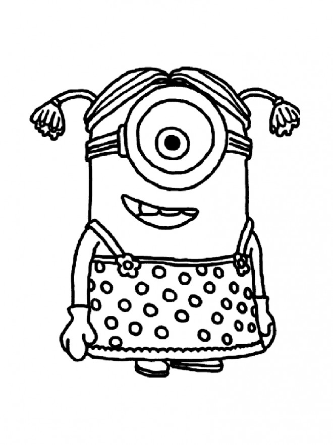 coloriage minion fille dessin gratuit imprimer. Black Bedroom Furniture Sets. Home Design Ideas