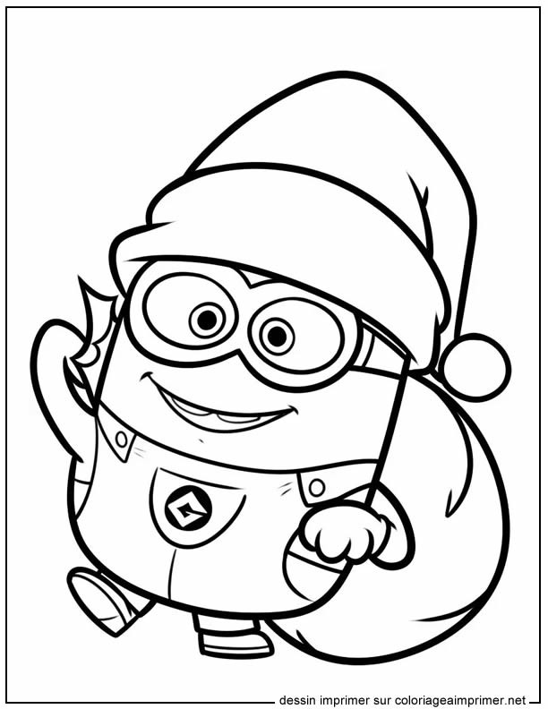 coloriage minion noel dessin gratuit imprimer. Black Bedroom Furniture Sets. Home Design Ideas
