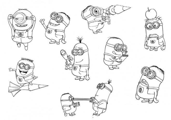 Coloriage et dessins gratuits Personnages de Film Les Minions à imprimer